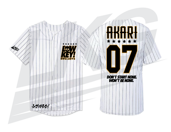 "***ONLY 3 DAYS TO PRE-ORDER!*** ~ LOWKEY! ""TEAM AKARI"" BASEBALL JERSEY"