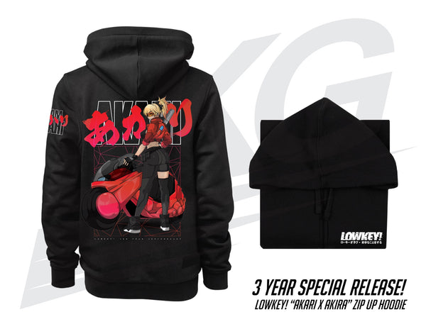 "*** ONLY 3 DAYS TO PRE-ORDER! *** ~ LOWKEY! 3 YEAR ANNIVERSARY ""AKIRA X AKARI"" ZIP-UP HOODIE"