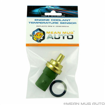 1214-32019A Engine Coolant Temperature Sensor With O-Ring - For: Audi, Volkswagen - Replaces OEM #: 059919501A - Mean Mug Auto