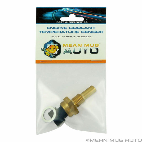 385-32019A Engine Coolant Temperature Sensor With Washer - For: Chevrolet, GMC, Buick - Replaces OEM #: 15326388 - Mean Mug Auto