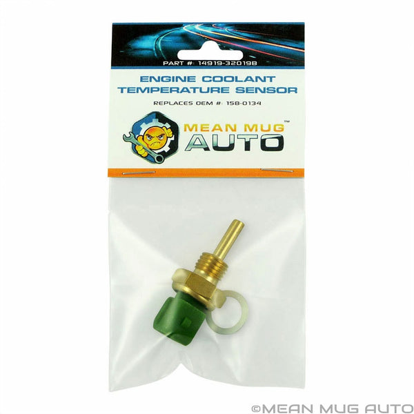 14919-32019B Engine Coolant Temperature Sensor With Washer - For: Nissan, Infiniti, & More - Replaces OEM #: 158-0134, SU405 - Mean Mug Auto