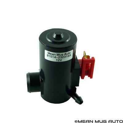 81514-232316A Windshield Washer Pump (Front) w/ Grommet - For: Honda, Acura, Subaru - Replaces OEM #: 38512-SA5-013, 38512-SA5-981, 86611-AA010 - Mean Mug Auto