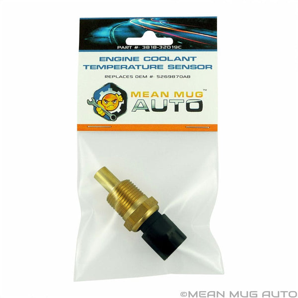 3818-32019C Engine Coolant Temperature Sensor - For: Chrysler, Dodge, Jeep - Replaces OEM #: 5269870AB, TX98, SU3207, 5S1499, WT5066 - Mean Mug Auto