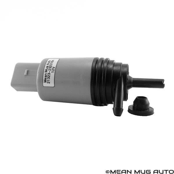 21323-232316A Windshield Washer Pump w/ Grommet - For: BMW - Replaces OEM #: 67126934159, 67127302589 - Mean Mug Auto