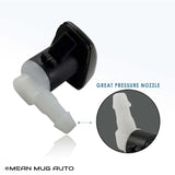 4154-232314B (Two) Front Windshield Washer Nozzles - For: Dodge Dart - Replaces OEM #: 68081370AB - Mean Mug Auto