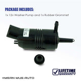 385-232316B Windshield Washer Pump (Rear) w/ Grommet - For: Chevrolet (Chevy), Buick, GMC, Cadillac, Pontiac - Replaces OEM #: 89001126, 22127573, 22087136, 22054177 - Mean Mug Auto