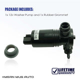 4818-232316A Windshield Washer Pump w/ Grommet - For: Chrysler, Dodge, Jeep - Replaces OEM #: 5093412AA, 19180273 - Mean Mug Auto