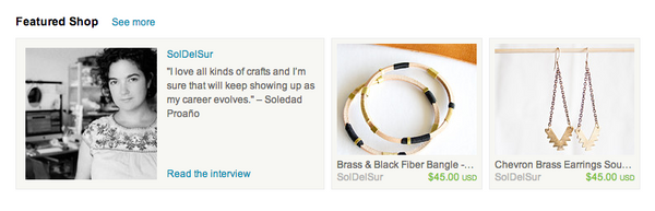 Sol del Sur Featured Shop on Etsy