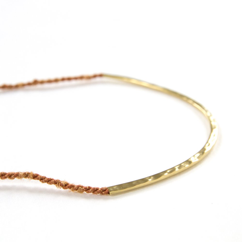 Concave Necklace Brass