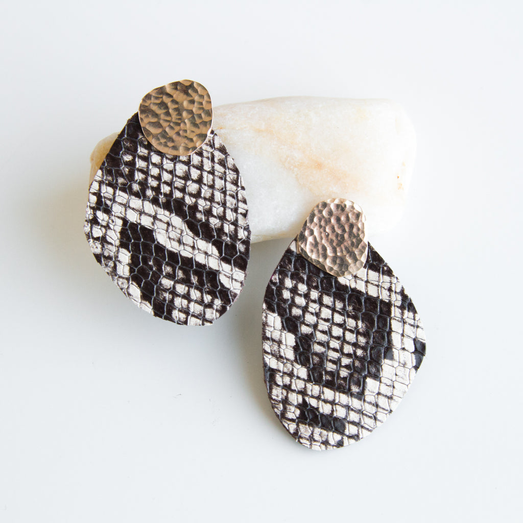 Cuero Earrings #6 - Jacket Style