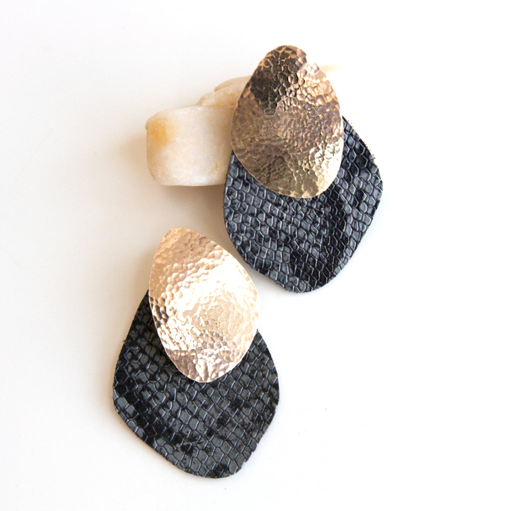 Cuero Earrings #9 - Jacket Style