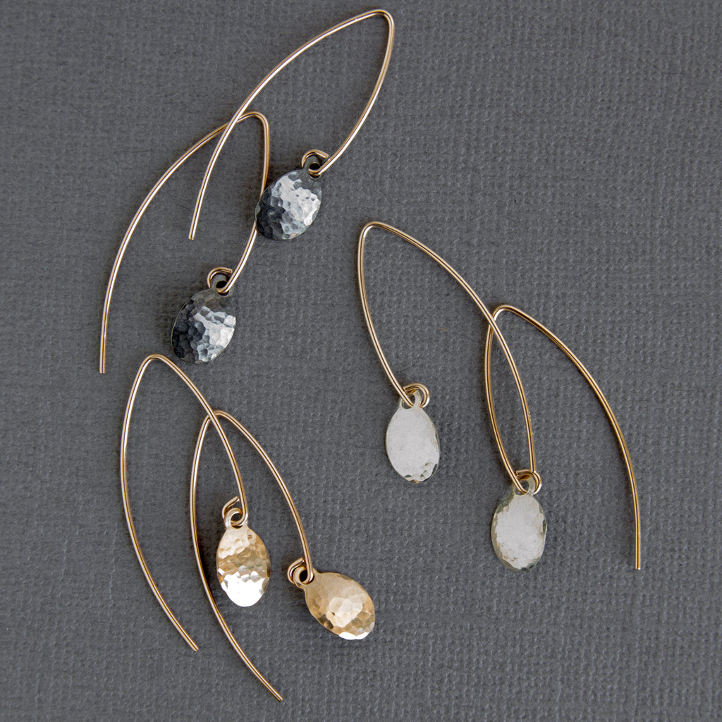 Mixed metal everyday minimal boho earrings by Sol Proaño