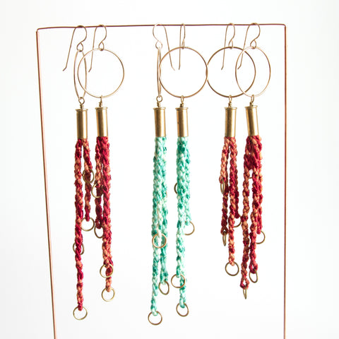 Tassels and Rings Earrings
