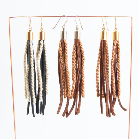 Short Tassel Earrings - Old stock