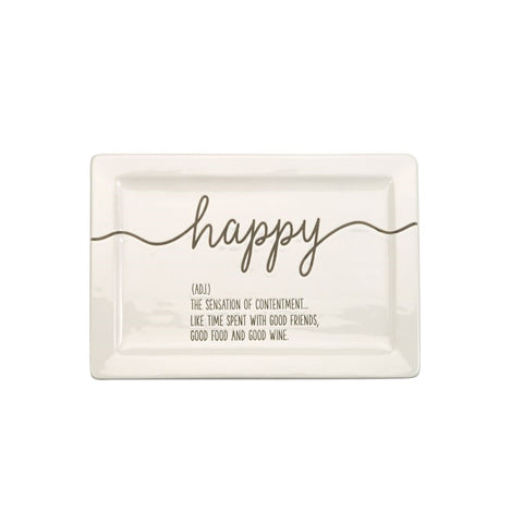 HAPPY DEFINITION BOXED PLATE