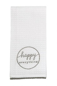 HAPPY EVERYTHING WAFFLE TOWEL S20