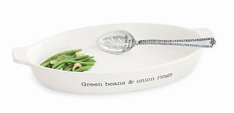 GREEN BEAN SERVING DISH SET