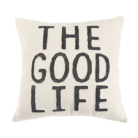 GOOD LIFE WASHED CANVAS PILLOW S20