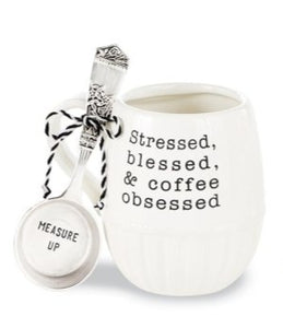 STRESSED COFFEE MUG SET  S20