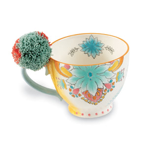 BLUE FLOWER ECLECTIC MUG