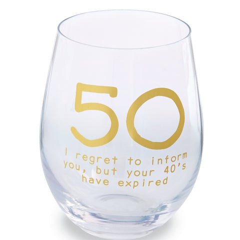 50 BOXED WINE GLASS SET