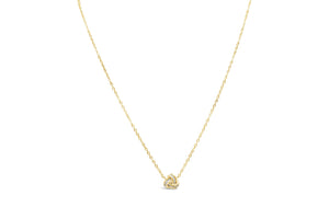 Charm & (Plain) Chain - Love Knot Gold