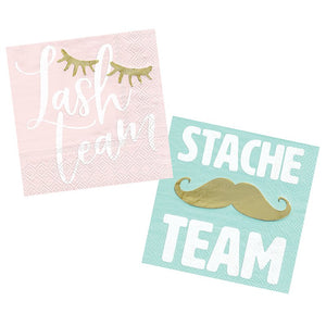LASHSTACHE TEAM 40 CT 5''NAPKIN  S20