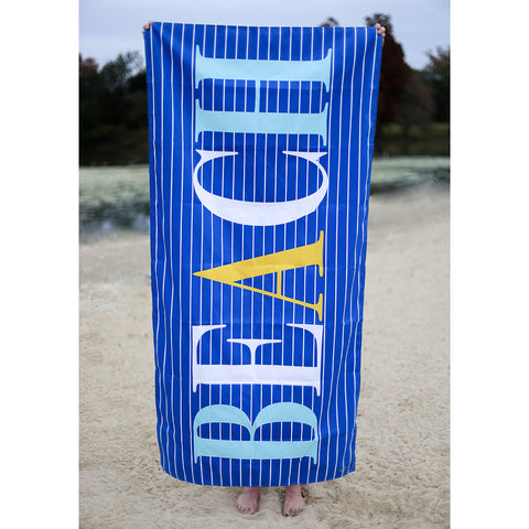 WALTON BEACH TOWEL ROYAL/ARUBA BLUE/YELLOW SU20