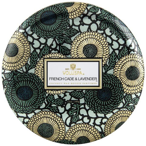 FRENCH CADE LAVENDER 3 WICK TIN