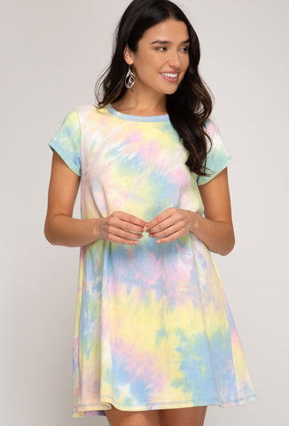 TIE DYE KNIT TSHIRT DRESS SU20