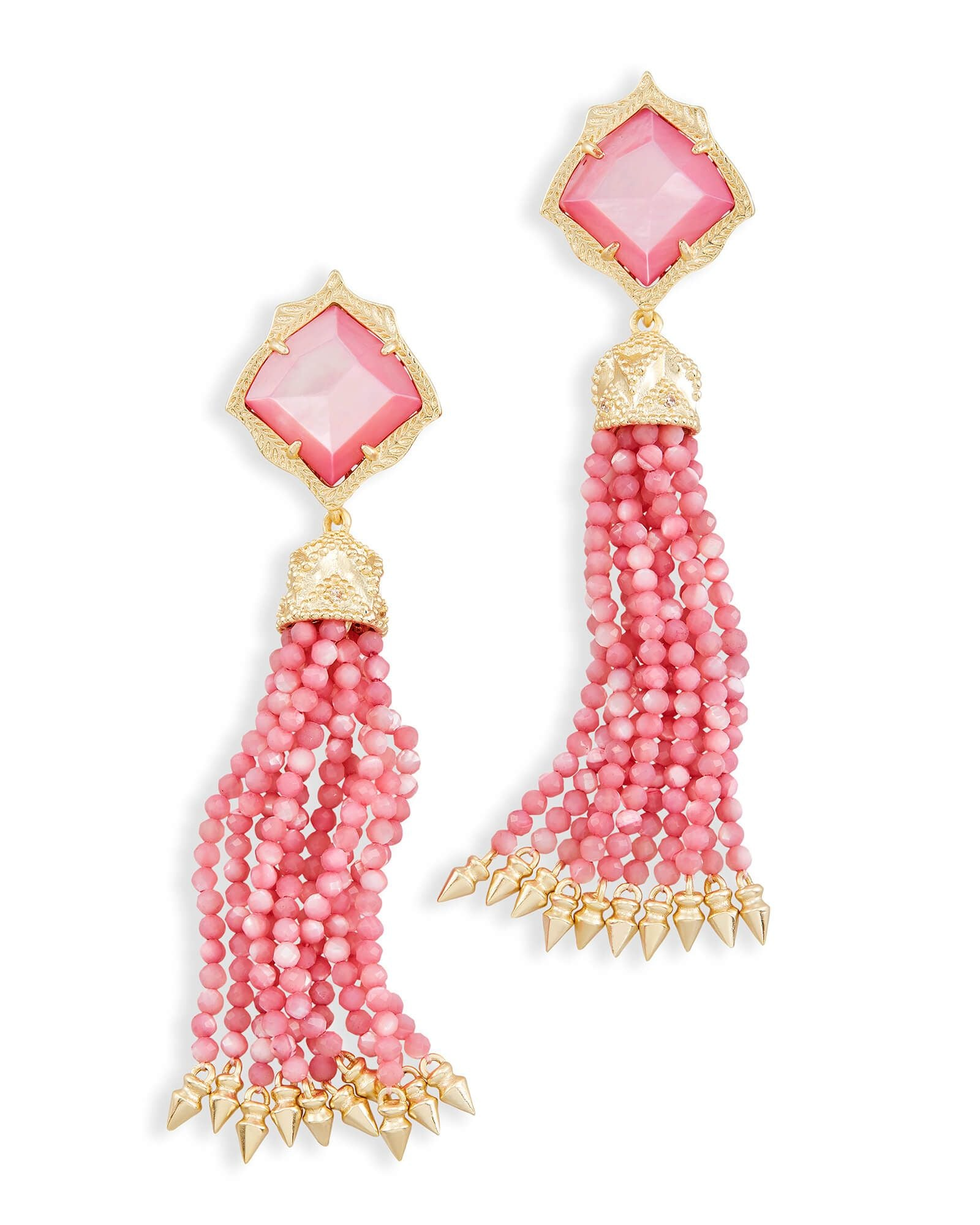 MISHA GOLD/PINK EARRINGS