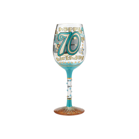 LOLITA WINE GLASS 70TH BIRTHDAY