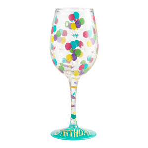LOLITA STEMLESS WINE GLASS BIRTHDAY BALLOONS S21