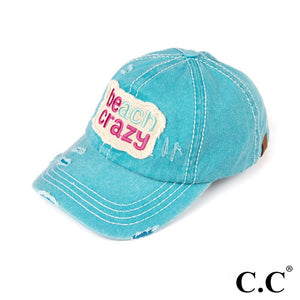 Vintage Baseball Cap Beach Crazy