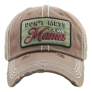 BALL CAP DONT MESS WITH MAMA ESPESSO S20