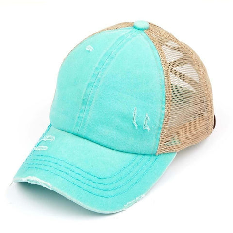 BALL CAP CC CRISS CROSS PONYTAIL MINT SU20