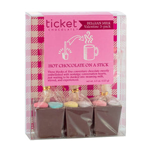 HOT CHOCOLATE ON A STICK VALENTINE 3 PACK W21
