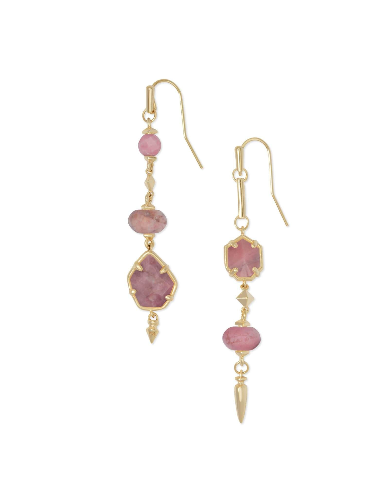 RHYS GOLD/PINK EARRINGS