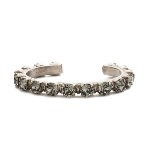 Sorrelli Riveting Romance Cuff Bracelet in Antique Silver-Tone Finish