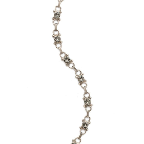 Sorrelli Mini Eyelet Line Bracelet in Antique Silver-Tone Finish