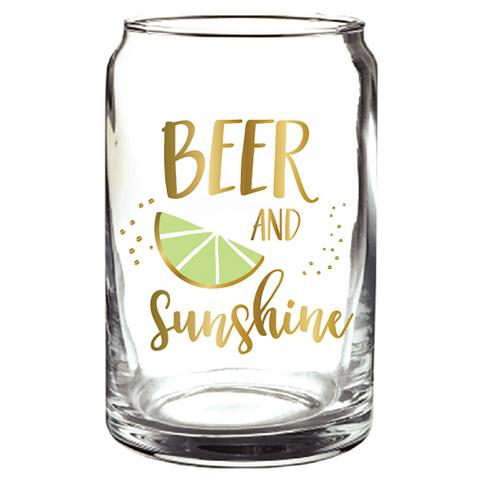 Slant Beer and Sunshine Glass