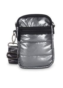 CASEY PUFFER CELL PHONE BAG COOL GUNMETAL W20