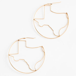 Hometown Pride Collection LG TX Earring in 14K