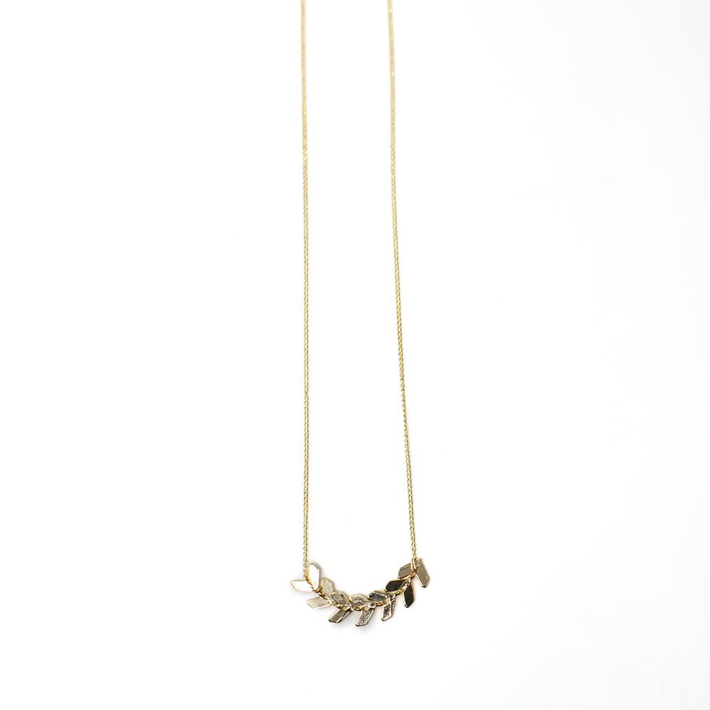 FAME Collection Alanis Microchain Fishtail Necklace 14K