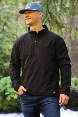 BURLEBO PERFORMANCE PULLOVER BLACK