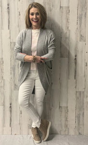 THE MARLED SWEATER KNIT COCOON HEATHER GREY F19