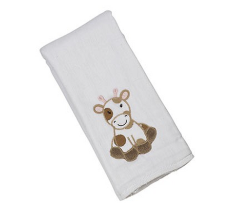 GRACE THE GIRAFFE SINGLE BURP CLOTH F20