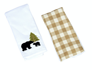 GRIFFIN THE BLACK BEAR DOUBLE BURP CLOTH GIFT SET F20
