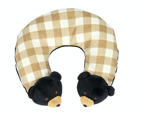 GRIFFIN THE BLACK BEAR TRAVEL PILLOW F20