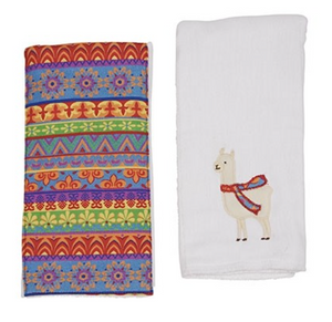 LUCKY THE LLAMA DOUBLE BURP CLOTH GIFT SET F20